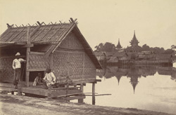 An ordinary Burmese Hut near the bottom of B road, [Mandalay]